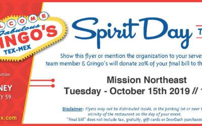 Gringo's Spirit Day!
